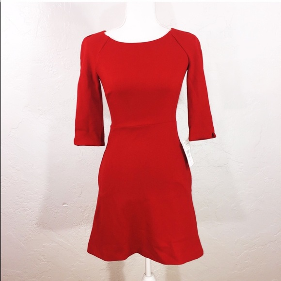 b86ba13eed9 NWT Zara red open back pocketed dress